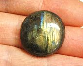 Labradorite Gemstone Cabochon, Oval - 31.0 x 18.0 x 6.3 mm - 31.0 ct - 120515-10. $6.50, via Etsy.