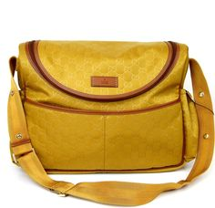 e894c8c9e759ab You'll be a hot mamma with this Gucci Guccissima Nylon Handbag 123326  Yellow Diaper Bag! Tradesy moms voted this diaper bag a Top Ten item.