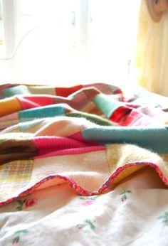 rosehip recycled wool blanket