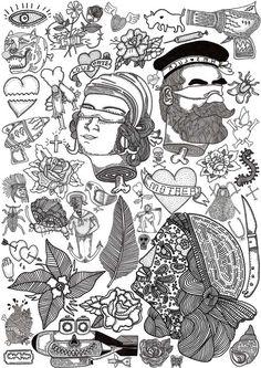 illustration | flash sheet | el famoso.