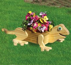 Lizard Flower Pot Planter Wood Plan