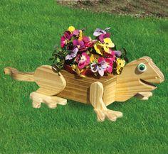 Lizard Flower Pot Planter Wood Plan