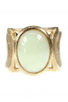 Mint Jade Cocktail Ring vergoldet