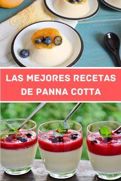 Descubre las mejores y más fáciles, rápidas y baratas recetas de panna cotta casera. 10 recetas diferentes de panacota de sabores: café, miel, queso, light