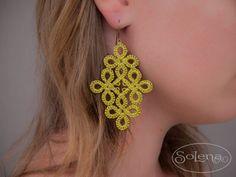 Lace earrings handmade summer от SoLenaRU на Etsy