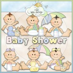 Sweet Baby - Baby Shower 1 - NE Cheryl Seslar Clip Art