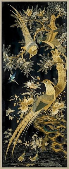 FOUR OLD CHINESE SILK EMBROIDERIES More