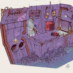 Arte Cyberpunk, Human Settlement, Sci Fi Art, Pose Reference, Great Britain, Diorama, Fantasy Art, Cool Art, Vibrant