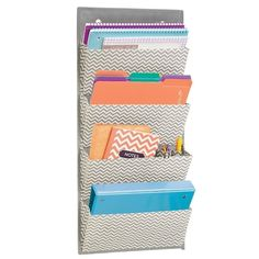 Promising Review: 'These are really nice and hold a lot of stuff. I got two to use in my home office and glad I did. It really helped us to organize the endless stacks that had accumulated on my desk. Very convenient that they hang on the door, I put two side by side and they fit together on a 3-0 door perfectly.' –Amazon CustomerGet it from Amazon for $17.99.