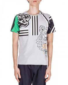 Kenzo+Multi+Icon+Short+Sleeve+Tshirt+Gray+T+Shirt+|+Shirts,+Tops+and+Clothing