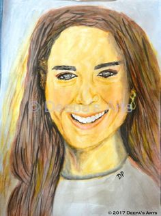 How to water colour Kate Middleton:  https://www.youtube.com/watch?v=qOzZLA86pVM