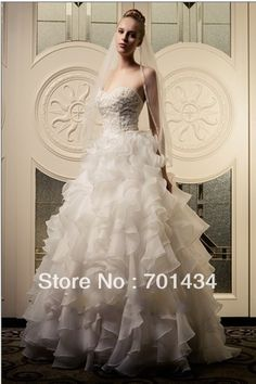 >> Click to Buy << New Arrival Free shipping Dreamlike Princess Bridal Dresses Sweetheart Appliques Besded Ruffles Wedding Dress #Affiliate