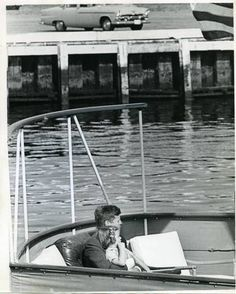 In October, 1961 President John F. Kennedy and his daughter Caroline aboard the presidential yacht, the Honey Fitz in Newport.