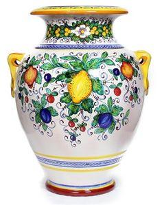 ITALIAN CERAMIC CENTERPIECES BOWLS & CERAMIC SERVINGS: Italian Ceramics - Deruta, Italy