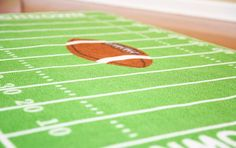 Crafted from high-quality materials, the football kids rug features a unique football ground design. Shop online for the kids rugs for sale.