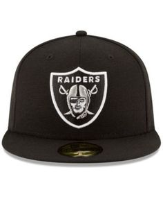 hot sale online 745cb 769f3 New Era Oakland Raiders Team Basic 59FIFTY Fitted Cap - Black 7 5 8 Raiders