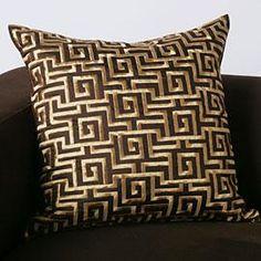 Another Greek key pillow...