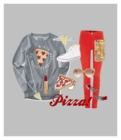 """""""For all the pizza lovers!"""" by lydibug612 ❤ liked on Polyvore featuring J Brand, Aéropostale, Betsey Johnson, Converse, Rock 'N Rose, Tom Ford, Casetify and Chanel"""