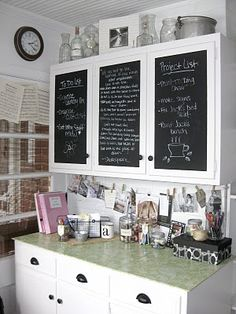 chalk cabinet doors? Craft room