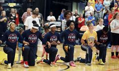 """Athletes raise awareness, grapple with next steps of protests = On Sept. 21, during a playoff game, the entire Indiana Fever basketball team took a knee during the national anthem to protest police shootings of unarmed African-Americans and the mistreatment of people of color in the United States.  """"It's becoming....."""
