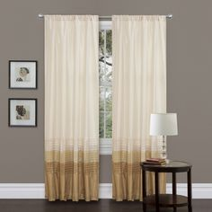 Lush Decor Mia Beige 84-inch Curtain Panel Pair - Overstock™ Shopping - Great Deals on Lush Decor Curtains