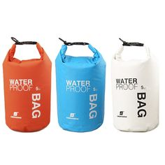 5L/10L/20L Waterproof Dry Bag Sack Pouch Canoe Boating Kayaking Camping Rafting Hiking Swimming Storage Bags Backpack
