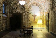 Museo di Casa Martelli - Firenze -  Affreschi che simulano un pergolato, cercando di ricreare un giardino d'inverno