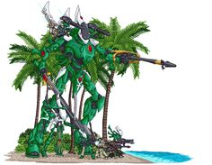 Pixel Eldar Beach by SteelJoe