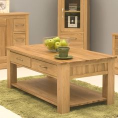 contempo oak coffee table