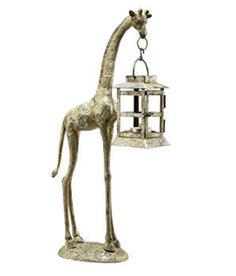 Giraffe Lantern Made by San Pacific International/SPI. Available at AllSculptures.com
