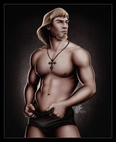 Sexy topless disney heroes - Captain Phoebus from The Hunchback of Notre Dame by David Kawena