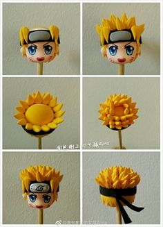 Polymer Clay Figures, Polymer Clay Dolls, Polymer Clay Charms, Clay Art Projects, Clay Crafts, Naruto Birthday, Anime Cake, Crea Fimo, Polymer Clay Kawaii