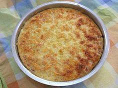 Torta de queijo e presunto.