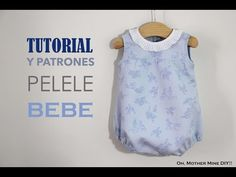 DIY Tutorial and free patterns: Baby Romper- DIY Tutorial y patrones gratis: Pelele para bebé DIY Tutorial and free patterns: Baby Romper - Baby Girl Dress Patterns, Baby Clothes Patterns, Sewing Patterns For Kids, Sewing For Kids, Baby Sewing, Baby Patterns, Baby Dress, Romper Tutorial, Diy Tutorial