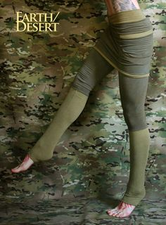 Skirted leggings with pockets in bamboo eco fleece by Crossfox
