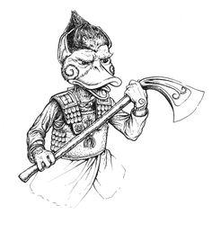 Durulz Warrior by Arkat-Kingtrollkin