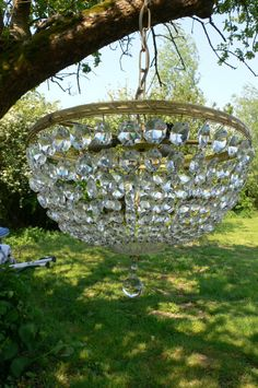 Chandeliers in trees £31