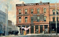 In May 1886, Atlanta pharmacist John S. Pemberton created a refreshing new drink served at Jacobs' Pharmacy. It was a modest start to Coca-Colas existence, with around nine drinks a day sold during this first year. Company accountant Frank Robinson named the drink Coca-Cola, and thinking the two Cs would look well in advertising, penned the famous Spencerian script logo that is still printed on the cans today. http://dingeengoete.blogspot.com/