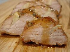 Pork tenderloin with orange juice in the marinade. I'll skip or cut back on the honey (enough sweetness from the OJ & it would be more likely to scorch). Looks very moist.