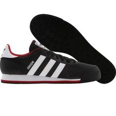 Adidas Orion 2 shoes in black, white, and university red