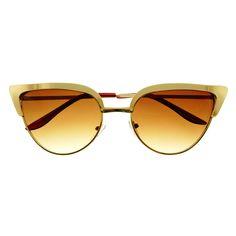 Fashion Celebrity Designer Womens Metal Cat Eye Sunglasses C1280 – FREYRS