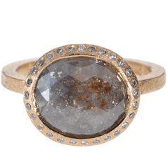 Todd Reed | Raw Elegance  18k rose gold, grey fancy cut diamond (3.84ctw), white brilliant cut diamonds (.112ctw)