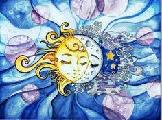 Sun and Moon by daydreamer-art.deviantart.com by marci