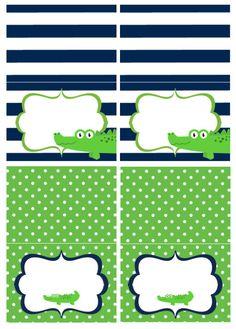 Alligator Baby Shower Food Tents by AshleysPartyPretties on Etsy, $8.00