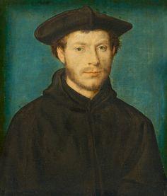 Corneille de Lyon Portrait of a Man  c. 1536/1540  oil on walnut
