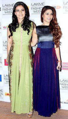 Kajol with sister Tanishaa at the Lakme Fashion Week 2014 #Style #Bollywood #Fashion #Beauty #LFW2014