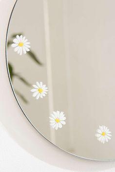 Daisy Decal Mini Round Mirror