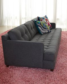 """""""Arden"""" Sofa.Jonathan Adler.Horchow.very modern for my tase.like the depth of the cushion.it looks comfy."""