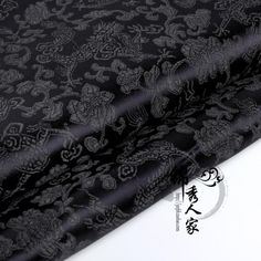Cheongsam, Shao Jun, Libra Tattoo, Black Dragon, Chinese Clothing, Fabric Decor, Black Fabric, Detail, Gothic