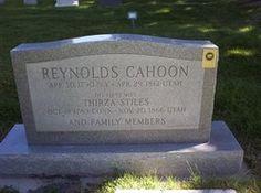 Reynolds Cahoon Headstone